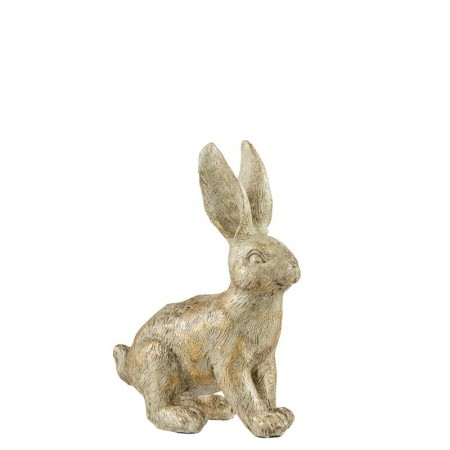 Lene Bjerre Semina Rabbit Lysestake Light Gold 9x5x12,5