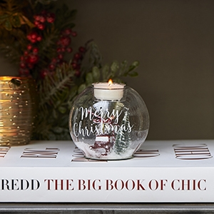 Riviera Maison Christmas World Tealight Holder S