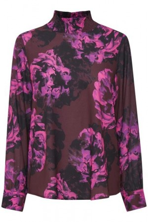 Kaffe Clothing Cherie Blouse Deep Wine