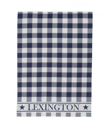 Lexington Hotel Gingham Kitchen Towel Navy