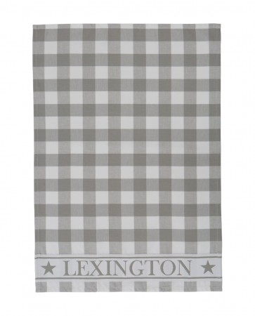 Lexington Hotel Gingham Kitchen Towel Grey