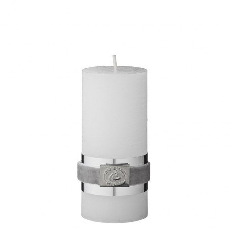 Lene Bjerre Candle Rustic Tall White