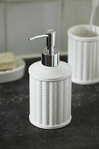 Riviera Maison Ceramic Rattan Weave Soap Dispenser