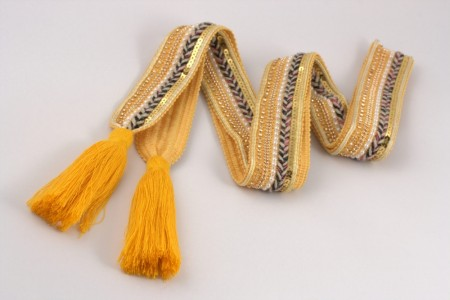 Belt Knit Tassle Yellow