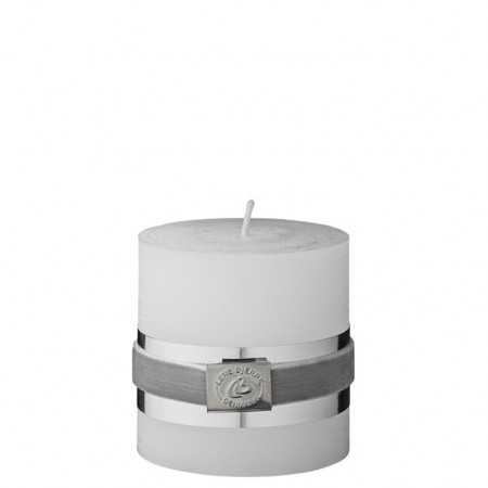 Lene Bjerre -Rustic Candle White 7 cm