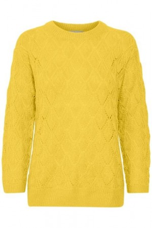 Kaffe Clothing Kasolema Pullover  Cyber Yellow
