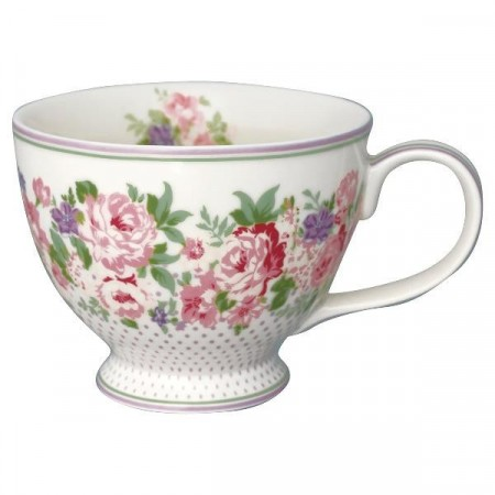 Greengate Tea Cup Rose White