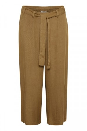Nour Line Cropped Pant Ermine