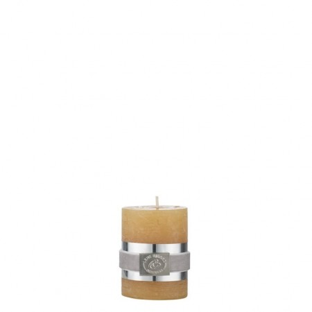 Lene Bjerre Candle Rustic Small Spurce Yellow