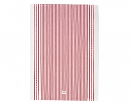 Lexington Oxford Striped Kitchen Towel Red