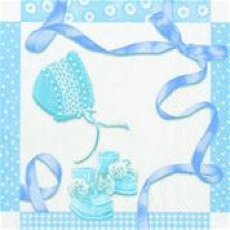 Serviett Lunch Baby Shower Blue