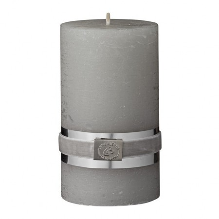 Lene Bjerre Candle Rustic Medium Grey Green