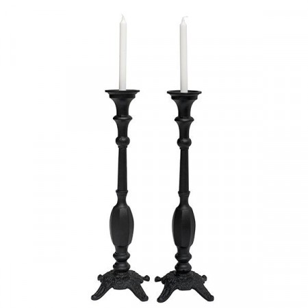 Mille Moi Iron Candle Holder Black 62cm