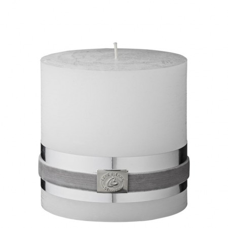 Lene Bjerre Candle Rustic White 10 cm