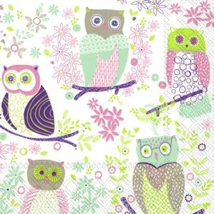 Serviett Jolly Owls Light Green Lunch