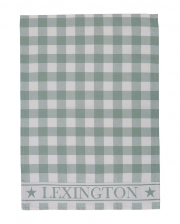 Lexington Hotel Gingham Kitchen Towel Green
