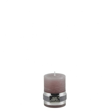 Lene Bjerre Candle Rustic Smal Aubergine