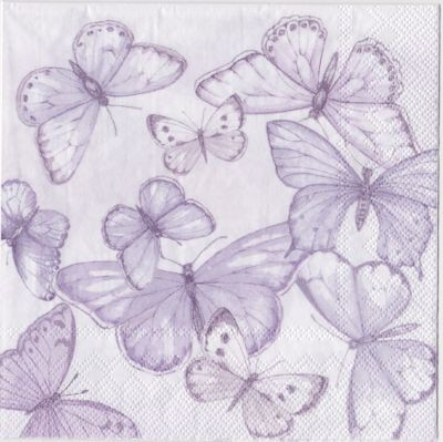 Serviett Flowery Dance Light Lilac Lunch