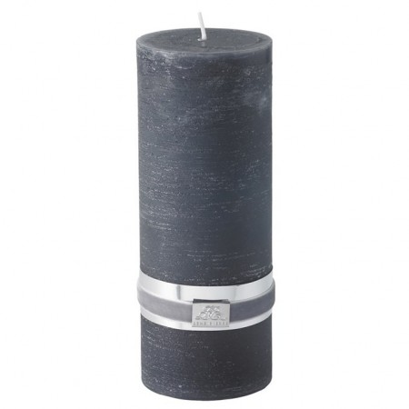 Lene Bjerre Candle Rustic Large Dark Grey