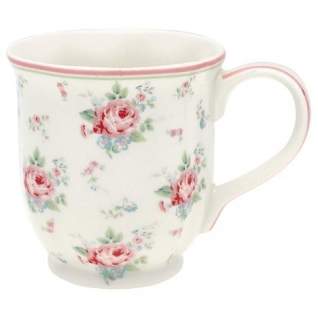Greengate Tea Mug Marley White