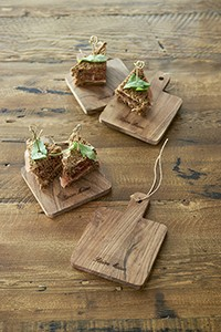 Riviera Maison Cutting Board Coasters, 4 Pcs