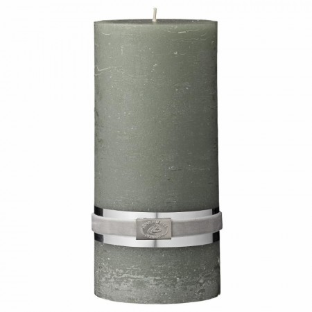 Lene Bjerre Rustic Candle Large Dusty Green