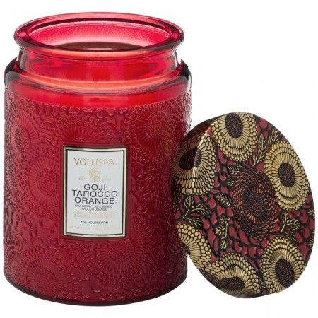 Voluspa Duftlys 1-Wick Glass Candle Goji Tarocco Orange 100t