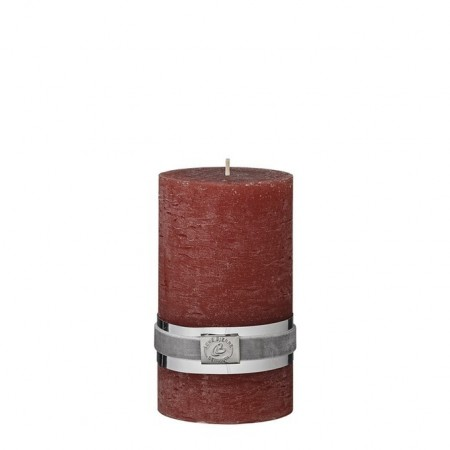 Lene Bjerre Candle Rustic Medium Mørk Orange
