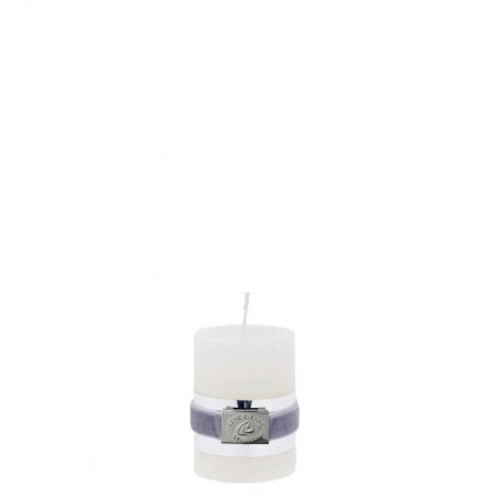 Lene Bjerre Candle Rustic Small White