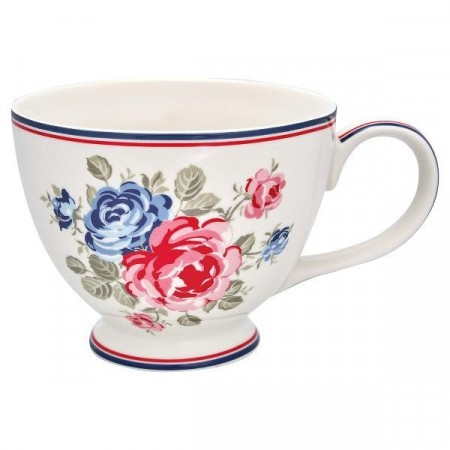 Greengate Tea Cup Hailey White