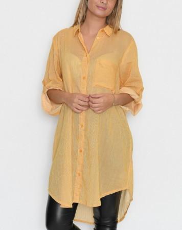 bc7631ac Kaffe Company Nugget Gold Skjorte Kavivian Shirt Dress