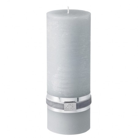 Lene Bjerre Candle Rustic Large L.grey