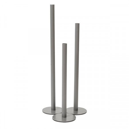 Mille Moi Nordic Candle Holder Medium Grey 50x12,5x12,5