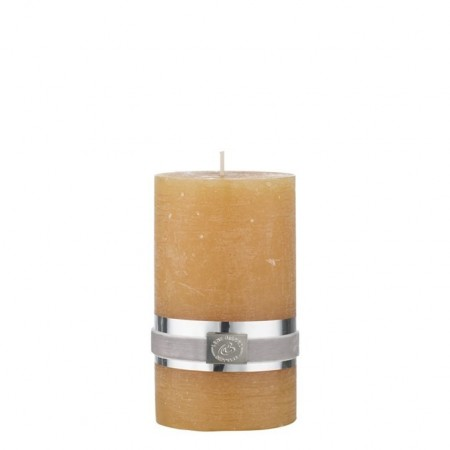 Lene Bjerre Rustic Candle Yellow Spurce Medium