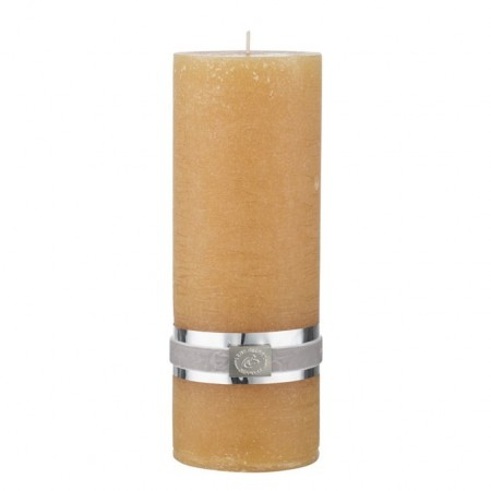 Lene Bjerre Candle Rustic Large Spurce Yellow
