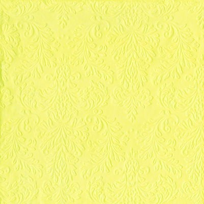 Serviett Cameo Uni Light Yellow Lunch