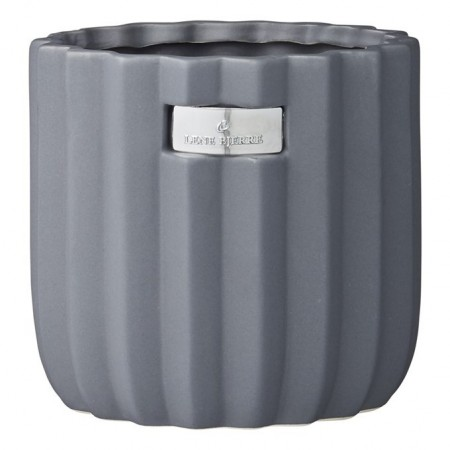 Lene Bjerre Paula Flower Pot Smoked Grey Medium