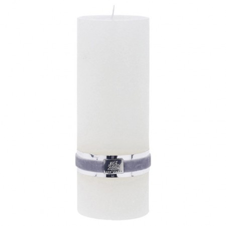 Lene Bjerre Candle Rustic Large White