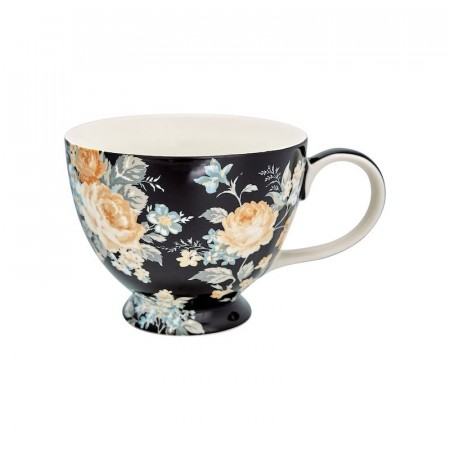 Greengate Tea Cup Josephine Black