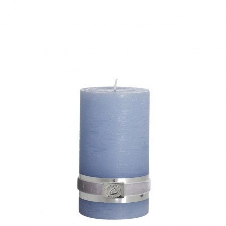 Lene Bjerre Candle Rustic Medium Light Blue