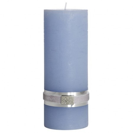 Lene Bjerre Candle Rustic Large Light Blue