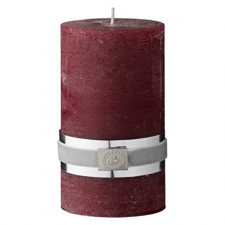 Lene Bjerre Rustic Candle Medium Rød