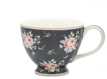 Greengate Marley Teacup Dark Grey