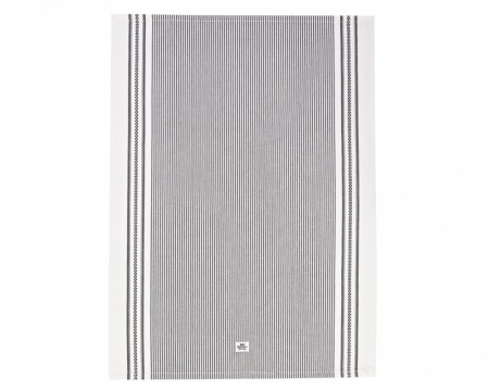 Lexington Oxford Striped Kitchen Towel Dark Grey