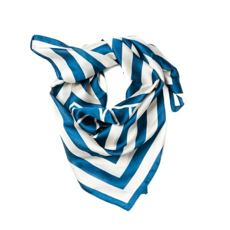Rosenvinge Skjerf Small Satin Blue Stripes