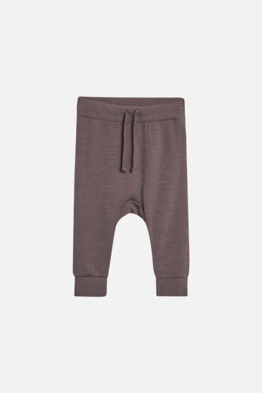 Hust & Claire – Gaby joggebukse ullbambus, bear brown brun
